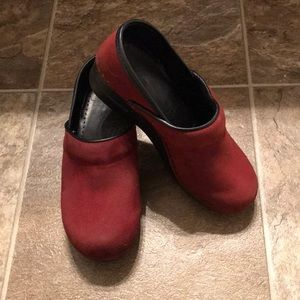Dansko Professional Clogs in Red Suede - Size 37